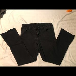Black micro flare old navy jeans